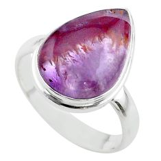 9.61cts solitaire natural cacoxenite super seven 925 silver ring size 8.5 t56893