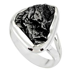 9.99cts solitaire natural campo del cielo fancy 925 silver ring size 5.5 r51283