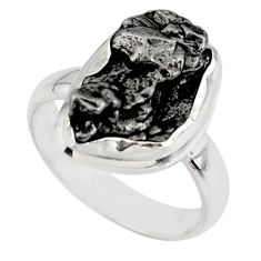 8.80cts solitaire natural campo del cielo fancy 925 silver ring size 5.5 r51286