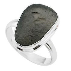 7.40cts solitaire natural cintamani saffordite 925 silver ring size 8.5 t58005