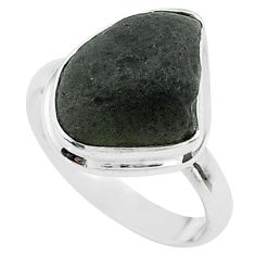 8.94cts solitaire natural cintamani saffordite 925 silver ring size 8.5 t58033