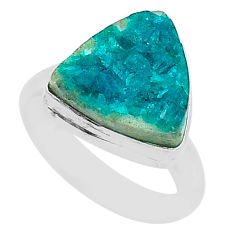 5.54cts solitaire natural dioptase 925 sterling silver ring jewelry size 6 t3313