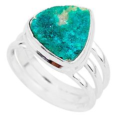 5.52cts solitaire natural dioptase 925 sterling silver ring jewelry size 8 t3276