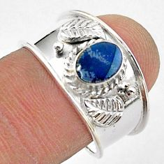 1.09cts solitaire natural doublet opal australian silver ring size 8.5 t42287