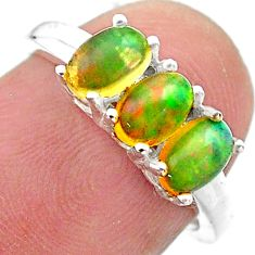 2.50cts solitaire natural ethiopian opal 925 silver ring jewelry size 6 t23836