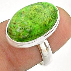 9.33cts solitaire natural green gaspeite 925 sterling silver ring size 7 t54704