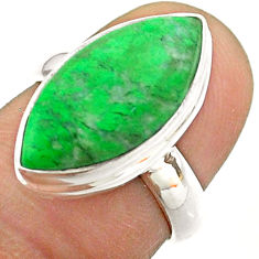 8.44cts solitaire natural green maw sit sit 925 silver ring size 6 t54631