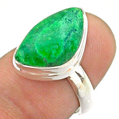 6.57cts solitaire natural green maw sit sit 925 silver ring size 6 t54639