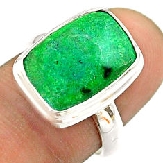 6.85cts solitaire natural green maw sit sit 925 silver ring size 7 t54657