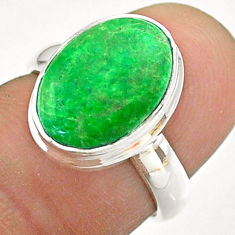 5.38cts solitaire natural green maw sit sit 925 silver ring size 5.5 t54629