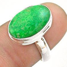 5.36cts solitaire natural green maw sit sit 925 silver ring size 6.5 t54637