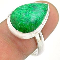 10.12cts solitaire natural green maw sit sit 925 silver ring size 8.5 t54642