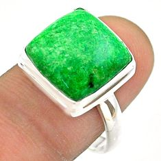 10.78cts solitaire natural green maw sit sit 925 silver ring size 8.5 t54648