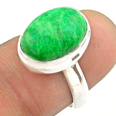 5.38cts solitaire natural green maw sit sit 925 silver ring size 6.5 t54654