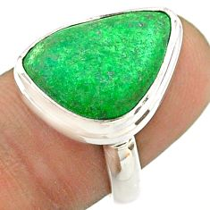 9.99cts solitaire natural green maw sit sit 925 silver ring size 7.5 t54655