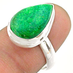 7.33cts solitaire natural green maw sit sit pear 925 silver ring size 7 t54627