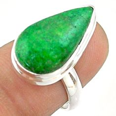 8.22cts solitaire natural green maw sit sit pear 925 silver ring size 7 t54635