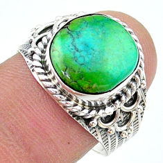 5.16cts solitaire natural green opaline 925 sterling silver ring size 8 t17777