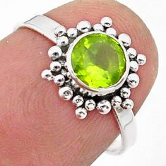 1.12cts solitaire natural green peridot 925 sterling silver ring size 6 t40055