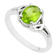 2.11cts solitaire natural green peridot 925 sterling silver ring size 6 t7943