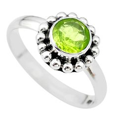 1.19cts solitaire natural green peridot 925 sterling silver ring size 7 t19959