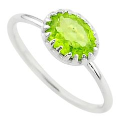 2.15cts solitaire natural green peridot 925 sterling silver ring size 7 t40938