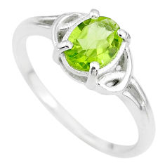 2.12cts solitaire natural green peridot 925 sterling silver ring size 7 t7963