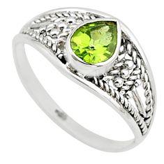 1.58cts natural cut peridot 925 silver graduation handmade ring size 7 t9583