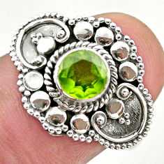 1.21cts solitaire natural green peridot 925 sterling silver ring size 8 t46142