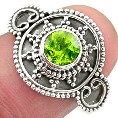 1.15cts solitaire natural green peridot 925 sterling silver ring size 8 t46196
