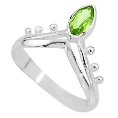 2.15cts solitaire natural green peridot 925 sterling silver ring size 8 t7525