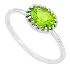 2.13cts solitaire natural green peridot 925 sterling silver ring size 8 t8985