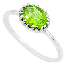 1.98cts solitaire natural green peridot 925 sterling silver ring size 8 t8986