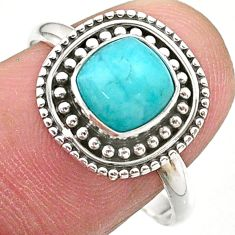 2.29cts solitaire natural green peruvian amazonite 925 silver ring size 9 t27386