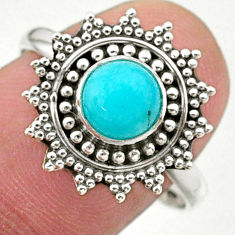 0.99cts solitaire natural green peruvian amazonite 925 silver ring size 9 t27389