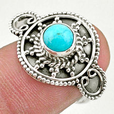 1.09cts solitaire natural green peruvian amazonite silver ring size 6.5 t27362