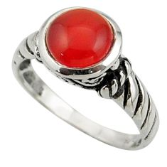 2.72cts solitaire natural honey onyx 925 sterling silver ring size 7 r41968