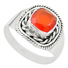 2.53cts solitaire natural honey onyx 925 sterling silver ring size 7 t23195