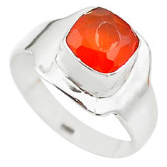 e natural honey onyx 925 sterling silver ring size 6.5 t23311