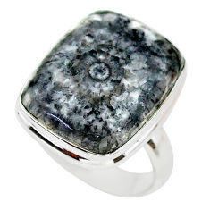 14.40cts solitaire natural horn coral 925 sterling silver ring size 8 t21654