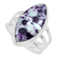 14.26cts solitaire natural kammererite 925 silver ring jewelry size 8.5 t39383