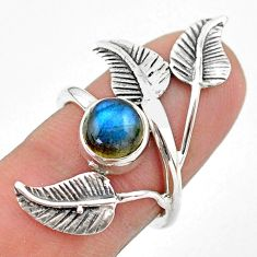 2.34cts solitaire natural labradorite 925 silver dreamcatcher ring size 6 t25183