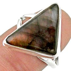 12.36cts solitaire natural labradorite spectrolite 925 silver ring size 8 t41711