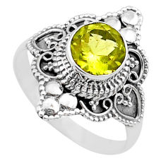 2.53cts solitaire natural lemon topaz 925 sterling silver ring size 8 t30779
