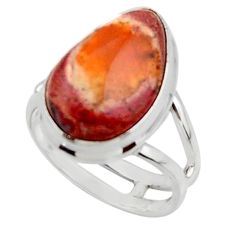 9.05cts solitaire natural mexican fire opal 925 silver ring size 6 r50815