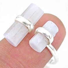 7.18cts solitaire natural moonstone 925 silver adjustable ring size 7.5 t36098