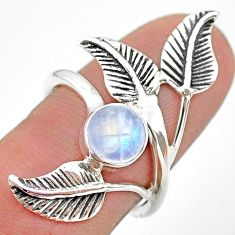2.68cts solitaire natural moonstone 925 silver dreamcatcher ring size 7.5 t25197