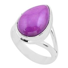 6.54cts solitaire natural phosphosiderite (hope stone) silver ring size 6 t28084