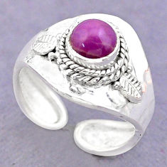 1.21cts solitaire natural phosphosiderite silver adjustable ring size 6 t32042