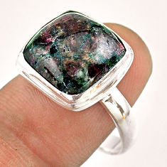 11.15cts solitaire natural pink eudialyte 925 sterling silver ring size 9 t54545